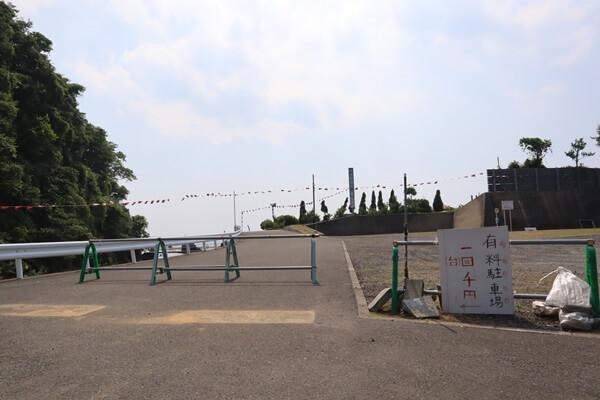 河野海水浴場の駐車場