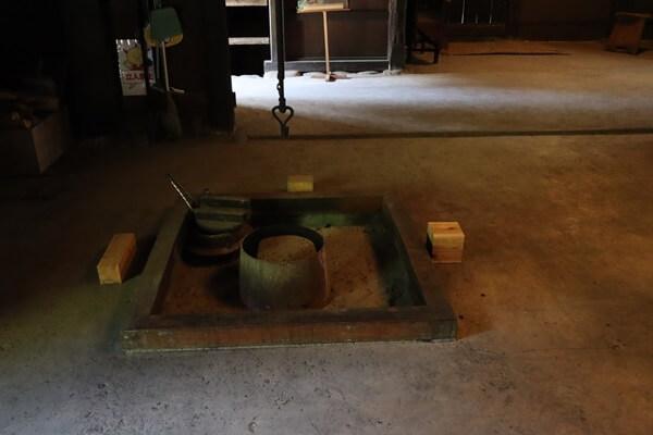 堀口家住宅の囲炉裏