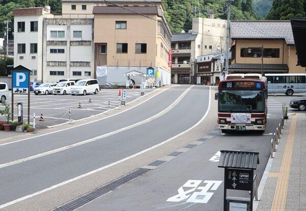 永平寺のバス停