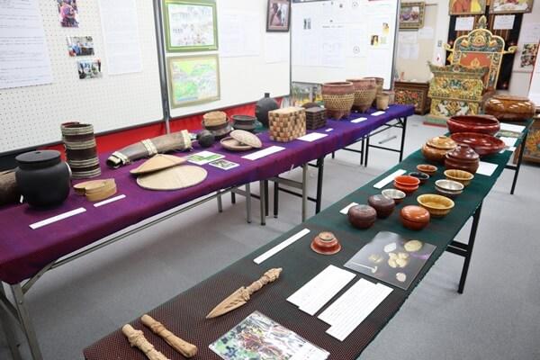 ブータンミュージアム館内の展示品