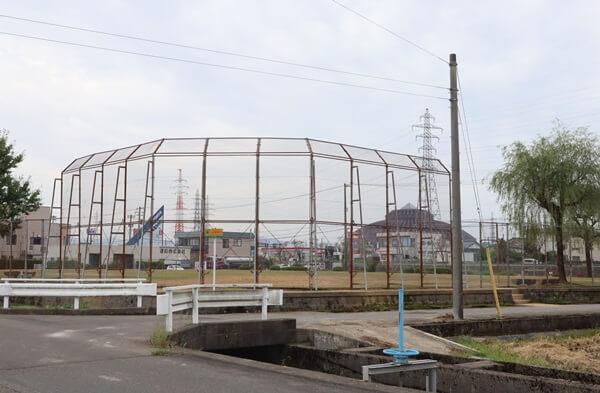 サンドームと五郎丸第2公園(南公園)