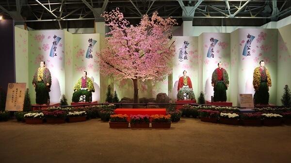 菊人形館内の展示