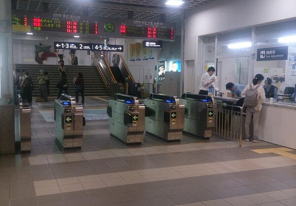 福井駅の自動改札