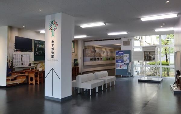 福井県教育博物館の入口付近