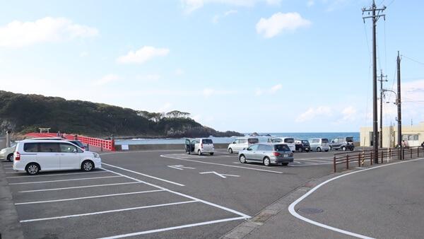 雄島の駐車場