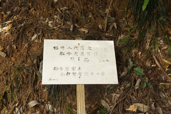 松平忠直の隠し墓
