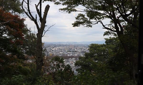 ごはんcafe 森の音から見る福井市内