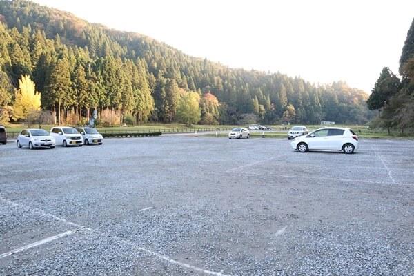 一乗谷朝倉氏遺跡の駐車スペース