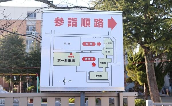 神明神社の参詣順路