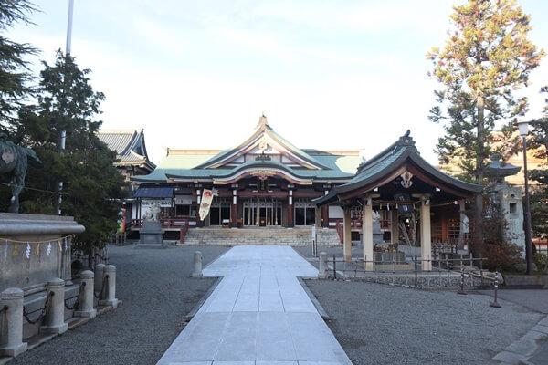 神明神社の参道