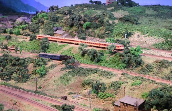 ジオラマ館の電車