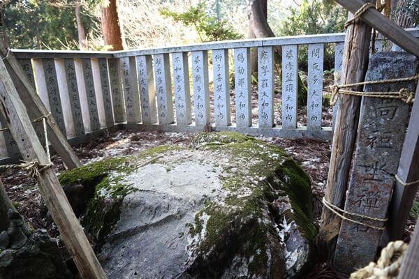 道元禅師が使用した座禅岩