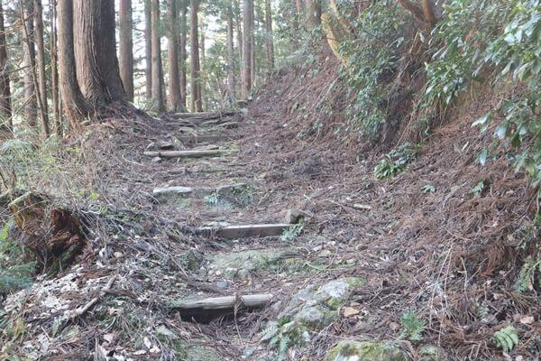 吉峰寺の登山道