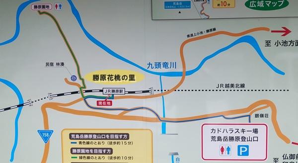 勝原花桃の里の地図