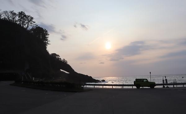 呼鳥門の夕日