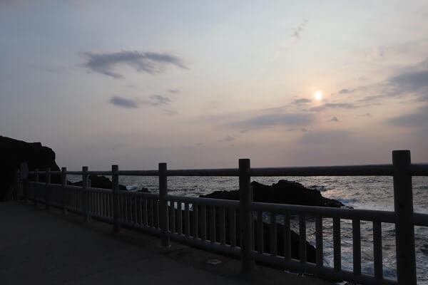 銭ヶ浜の夕日