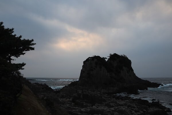 鉾島の夕日
