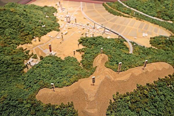 国吉城のジオラマ