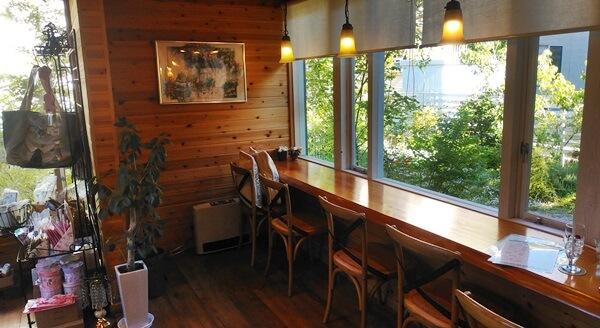 ローズカフェ 風のガーデンのカウンター