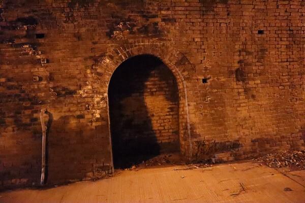 樫曲トンネルのトンネル中央