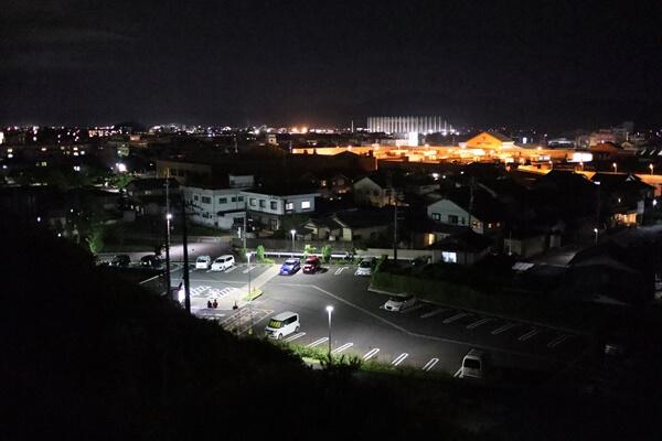 西山公園から鯖江の夜景