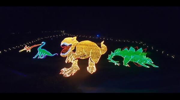 2019恐竜の地上絵