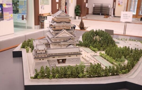 勝山城の模型