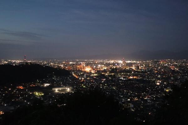 福井駅方面の夜景