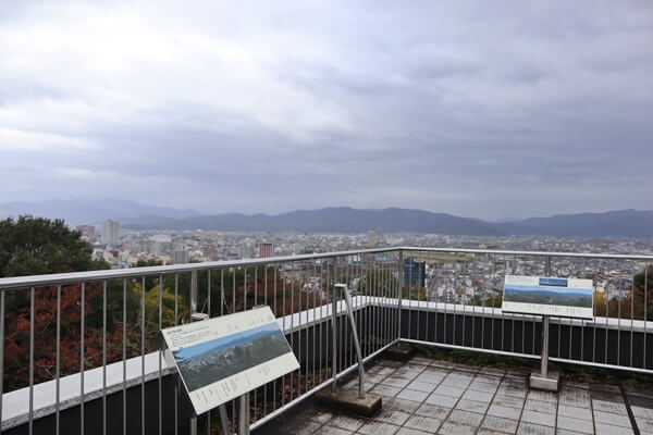 白山テラスの眺め