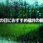 【雨の日でも楽しめる福井の観光スポット10選】