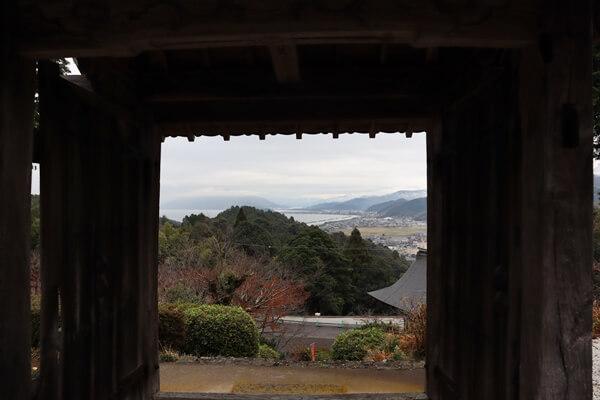 山門からの眺め