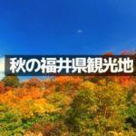 【福井旅行】秋のおすすめ観光地8選!定番からマイナースポットのまとめ