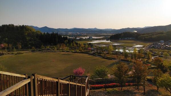 大谷公園の展望台からの眺め