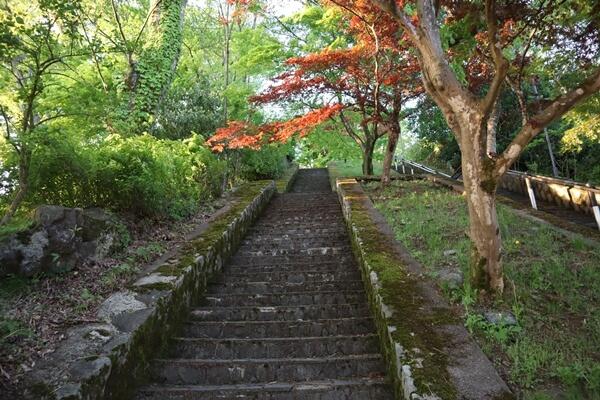 大野城の西口の階段