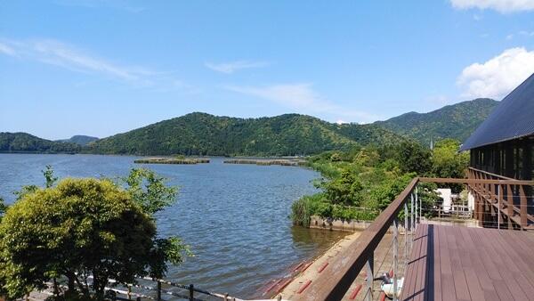里山里海湖研究所からの眺め