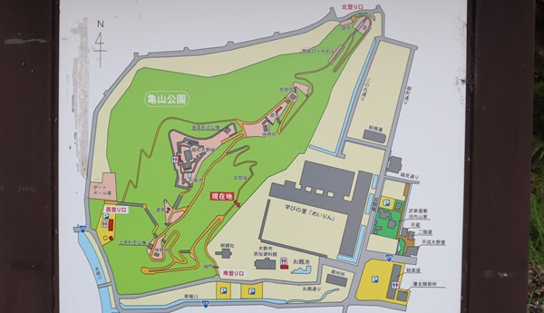 大野城の地図