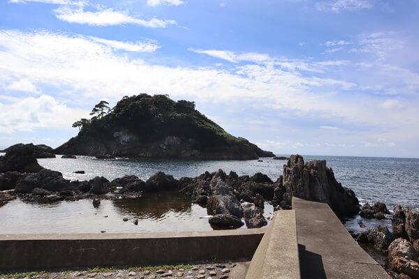 亀島園地から見る亀島
