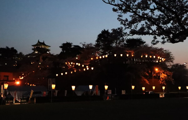 丸岡城の夜