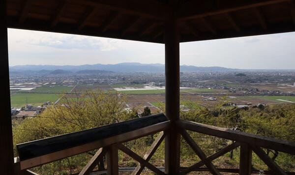 東山公園の展望台の眺め