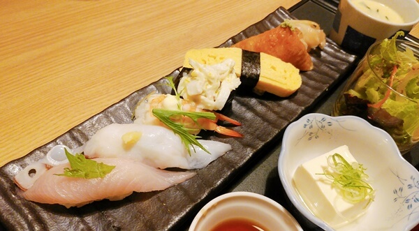 かんきちランチの寿司