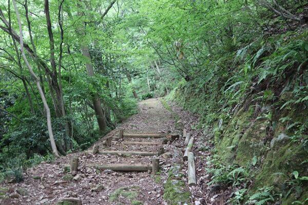 ふるさと小公園からの登り