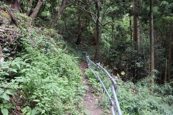 貧谷の滝の登山道