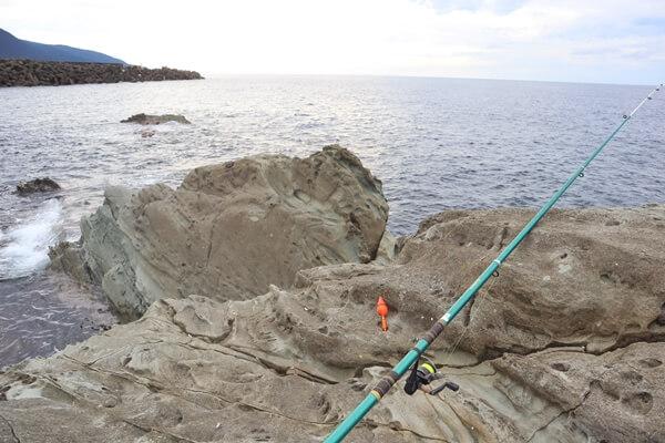 軍艦岩で釣り