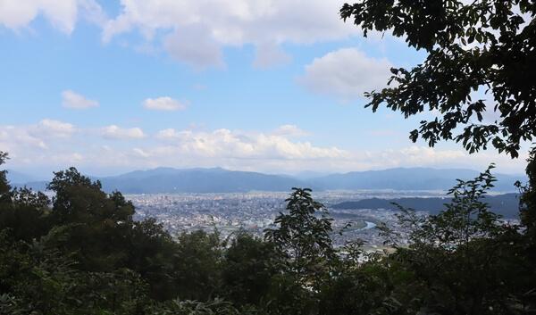 下市山の山頂の眺め